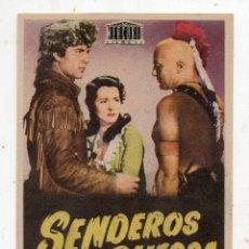 Cine: SENDEROS DE GUERRA. GEORGE MONTGOMERY Y BRENDA MARSHAL.. Lote 178832362