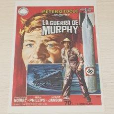 Cine: PROGRAMA DE MANO - FOLLETO - CINE - ORIGINAL - PETER O'TOOLE - LA GUERRA DE MURPHY. Lote 178870638
