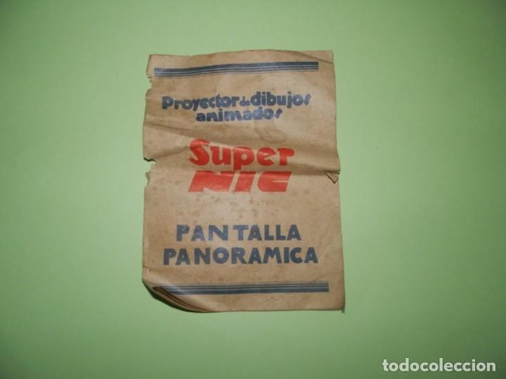 FOLLETO-- PROYECTOR DE DIBUJOS ANIMADOS SUPER NIC PANTALLA PANORAMICA (Cine - Folletos de Mano - Infantil)
