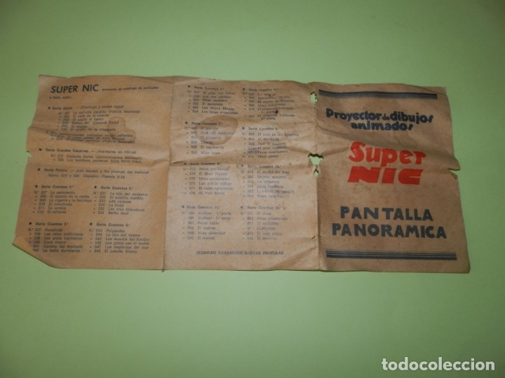 Cine: FOLLETO-- PROYECTOR DE DIBUJOS ANIMADOS SUPER NIC PANTALLA PANORAMICA - Foto 4 - 178876152