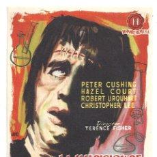 Cine: LA MALDICION DE FRANKENSTEIN PROGRAMA SENCILLO HISPAMEX HAMMER CHRISTOPHER LEE PETER CUSHING. Lote 10456181