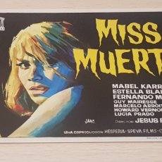 Cine: PROGRAMA DE MANO - FOLLETO - CINE - MABEL KARR - MISS MUERTE. Lote 178905495