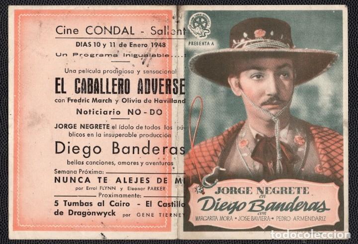 DIEGO BANDERAS -PROGRAMA DOBLE - ORIGINAL -PUBLICIDAD EN REVERSO- (Cine - Folletos de Mano - Drama)