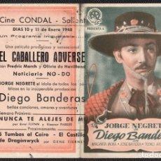 Cine: DIEGO BANDERAS -PROGRAMA DOBLE - ORIGINAL -PUBLICIDAD EN REVERSO-. Lote 178949541