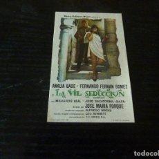 Cine: PROGRAMA DE CINE IMPRESO EN LA PARTE TRASERA. Lote 178965548