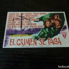 Cine: PROGRAMA DE CINE IMPRESO EN LA PARTE TRASERA. Lote 178965906