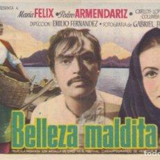 Folhetos de mão de filmes antigos de cinema: BELLEZA MALDITA . Lote 178999058