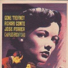 Folhetos de mão de filmes antigos de cinema: VORÁGINE . Lote 178999273