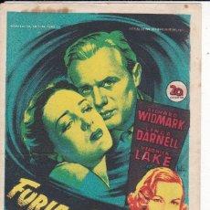 Folhetos de mão de filmes antigos de cinema: FURIA DEL TROPICO. Lote 178999456