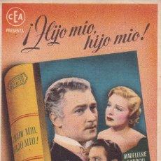 Folhetos de mão de filmes antigos de cinema: HIJO MIO, HIJO MIO. Lote 179002328