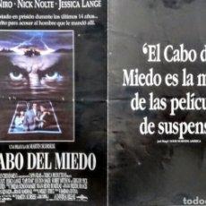 Cine: EL CABO DEL MIEDO. Lote 179049307