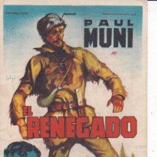 Cine: PAUL MUNI EL RENEGADO . Lote 179055045
