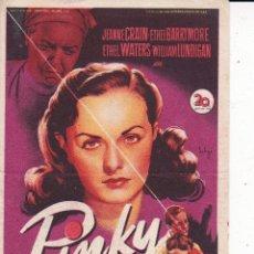 Folhetos de mão de filmes antigos de cinema: PINKY. Lote 179055125