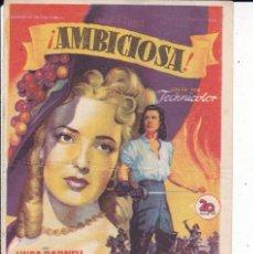 Cine: AMBICIOSA . Lote 179055128