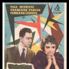 Cine: FOLLETO DE MANO, LOS VIOLENTOS, PAUL MEURISSE, FRANCOISE FABIAN Y FERNAND LEDOUX.. Lote 179073383