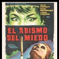 Cine: FOLLETO DE MANO, EL ABISMO DEL MIEDO, DAVID KNIGHT, MOIRA REDMOND Y JENNIE LINDEN.. Lote 179073818