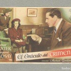 Cine: PROGRAMA DE CINE: EL ORACULO DEL CRIMEN, WARNWE BAXTER Y MARGARET LINDSAY - ORIGINAL SIN PUBLICIDAD.. Lote 179126618