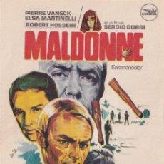 Cine: MALDONNE - PROGRAMA SENCILLO - PIERRE VANECK, ELSA MARTINELLI, ROBERT HOSSEIN - FRANCIA (1969). Lote 179181446