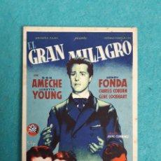 Cine: EL GRAN MILAGRO. HENRY FONDA, LORETTA YOUNG, DON AMECHE, CHARLES COBURN... AÑO 1948.. Lote 179193370