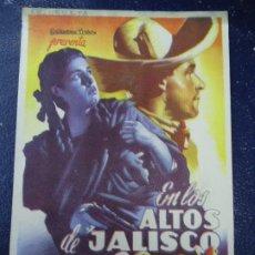 Cine: EN LOS ALTOS DE JALISCO 1960 TITO GUIZAR BLANCA ESTELA PAVON SENCILLO PIE GRAFICAS VALENCIA . Lote 179254693
