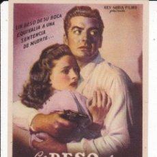Cine: EL BESO DE LA MUERTE . Lote 179311436