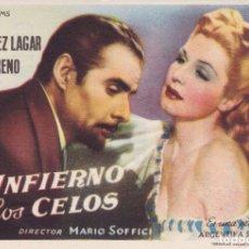 Cine: EL INFIERNO DE LOS CELOS. Lote 179311583
