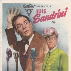 Folhetos de mão de filmes antigos de cinema: LUJIS SANDRINI EN EL EMBAJADOR. Lote 179312782