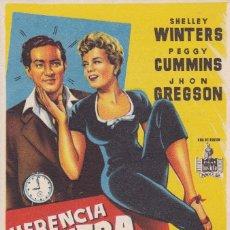 Cine: HERENCIA CONTRA RELOJ. Lote 179312968