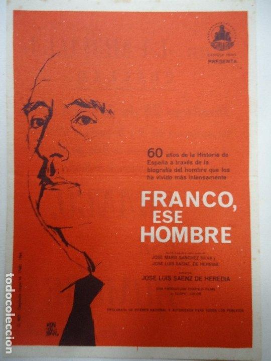 Cine: FRANCO, ESE HOMBRE 1965 PUBLICIDAD CINE LA MURALLA IMPECABLE PIE G. REY MUY BIEN CONSERVADO Document - Foto 2 - 179522253