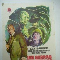Cine: LAS GARRAS INVISIBLES DEL DOCTOR MABUSE 1964 PUBLICIDAD SELLO SECO DEL TEATRO PRINCIPAL 1 DE NOVIEMB. Lote 179524348