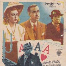 Folhetos de mão de filmes antigos de cinema: COBARDIAS . Lote 179526017