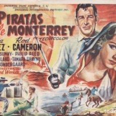 Folhetos de mão de filmes antigos de cinema: PIRATAS DE MONTERREY . Lote 179526510