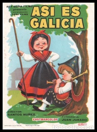 FOLLETO DE MANO, ASI ES GALICIA, SANTOS NUÑEZ Y JUAN JURADO. (Cine - Folletos de Mano - Infantil)