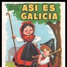 Cine: FOLLETO DE MANO, ASI ES GALICIA, SANTOS NUÑEZ Y JUAN JURADO.. Lote 193110262