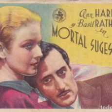 Cine: MORTAL SUGESTIÓN. Lote 180005166