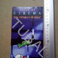 Cine: TUBAL CICLE DE CINEMA 1898 ESPANYA FI DE SEGLE ENVÍO 70 CENT 2019 B05. Lote 180090235