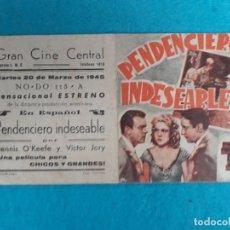 Cine: PENDENCIERO INDESEABLE. AÑO 1945. DENNIS O´KEEFE, CLAIRE CARLETON, VICTOR JORY.... Lote 180094015