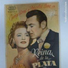 Cine: PROGRAMA DE CINE. REINA DE LA PLATA. CON PUBLICIDAD. . Lote 180094287