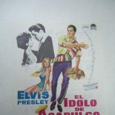 Flyers Publicitaires de films Anciens: EL IDOLO DE ACAPULCO 1963 PUBLICIDAD DEL GRAN TEATRO ROSELLY, ELVIS PRESLEY, URSULA ANDRESS, PAUL LU. Lote 180108240