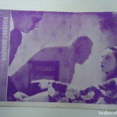 Cine: ARIANE PROGRAMA TARJETA ELISABETH BERGNER RUDOLF FORSTER AÑOS 30 CON PUBLICIDAD DEL CINE ESPAÑA. Lote 180125987