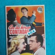 Cine: CON LAS HORAS CONTADAS. EDMOND O´BRIEN Y PAMELA BRITTON. AÑO 1952.. Lote 180128613