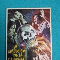 Cine: LA MALDICIÓN DE LA CALAVERA. AÑO 1966. CHRISTOPHER LEE, PETER CUSHING, PATRICK WYMARK.. Lote 180128853