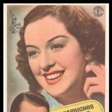 Cine: FOLLETO DE MANO, LOS CAPRICHOS DE ELENA, ROSALIND RUSSELL Y BRIAN AHERNE.. Lote 180169950