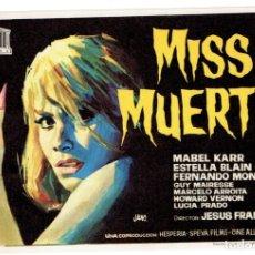 Cine: MISS MUERTE. Lote 180182935