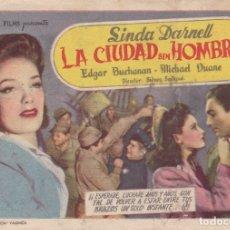 Cine: LA CIUDAD SIN HOMBRES. Lote 180186135