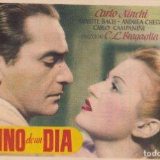 Cine: DESTINO DE UN DIA . Lote 180186295