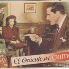 Cine: EL ORÁCULO DEL CRIMEN. Lote 180186478