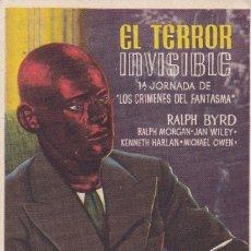 Cine: EL TERROR INVISIBLE. Lote 180186782