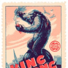 Cine: M81 SELLO/VIÑETA PROPAGANDA KING KONG 1930'S. Lote 206189692