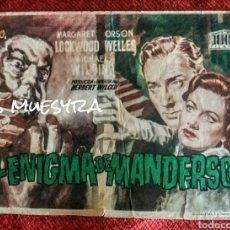 Cine: EL ENIGMA DE MANDERSON. Lote 180218515